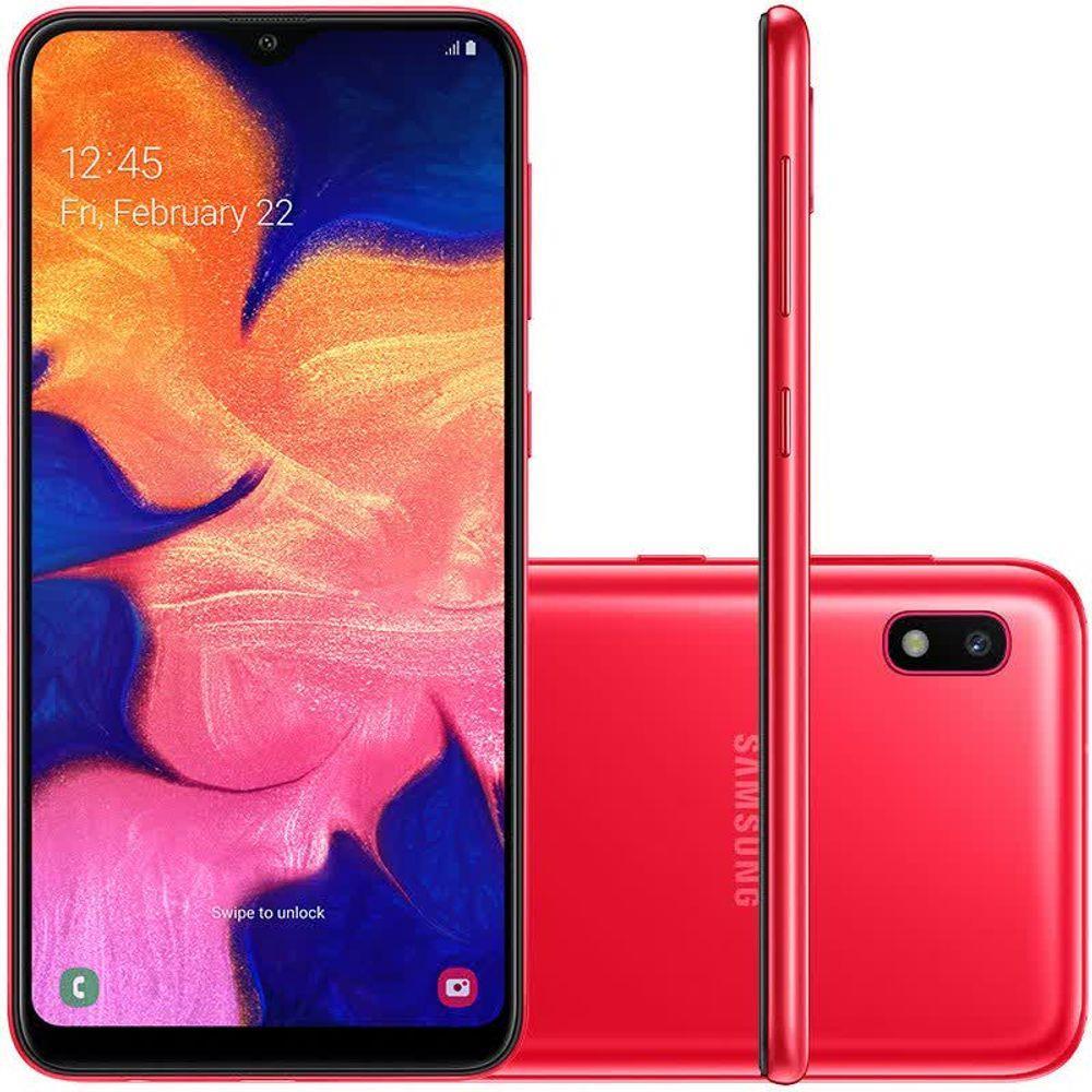 Samsung Galaxy A10 Vermelho 32GB em Promoção