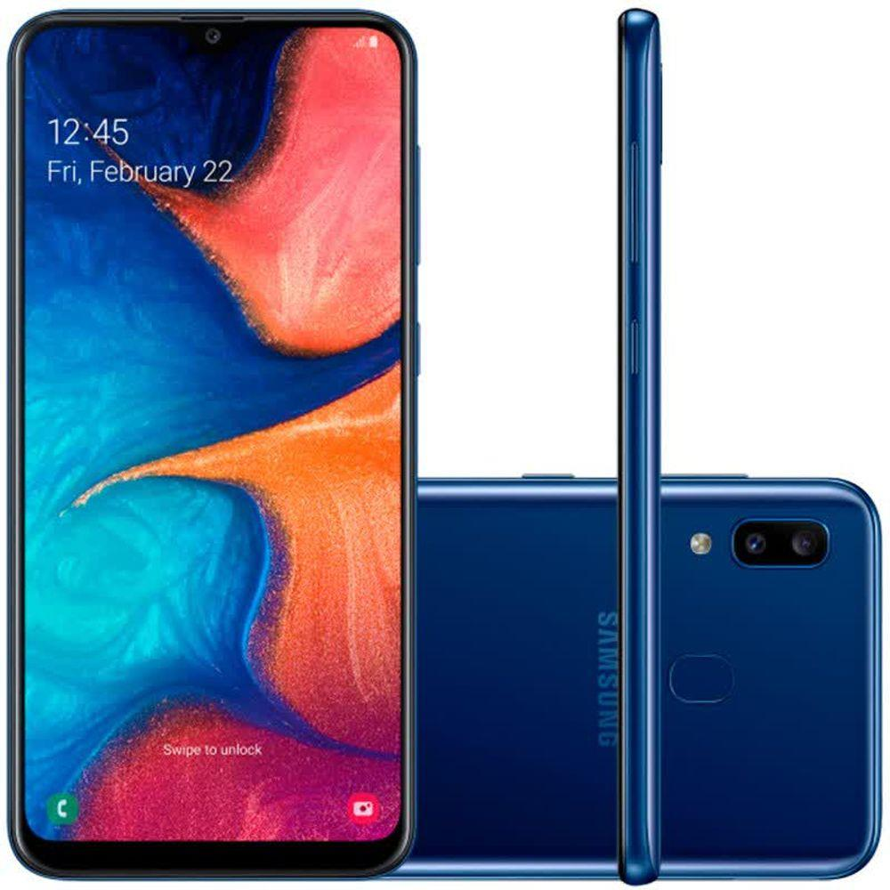 Samsung Galaxy A20 Azul 32GB em Promoção