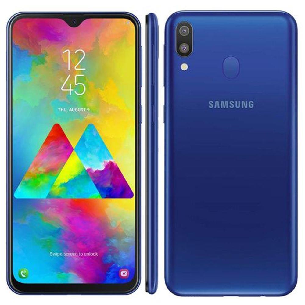 Samsung Galaxy M20 Azul 64GB em Promoção