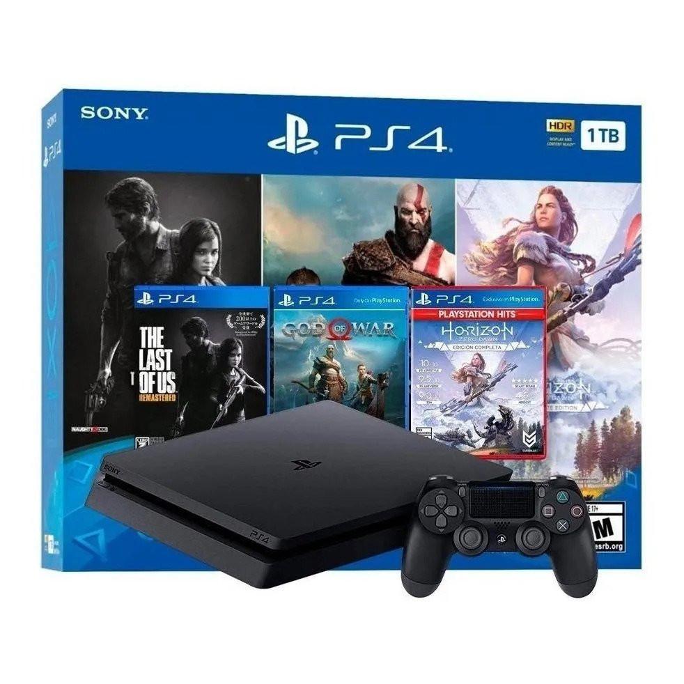 PS4 Slim Mega Pack em Promoção